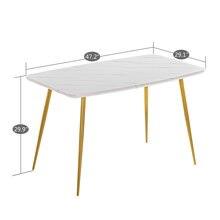 Белый мраморный обеденный стол [120x74x76 см]