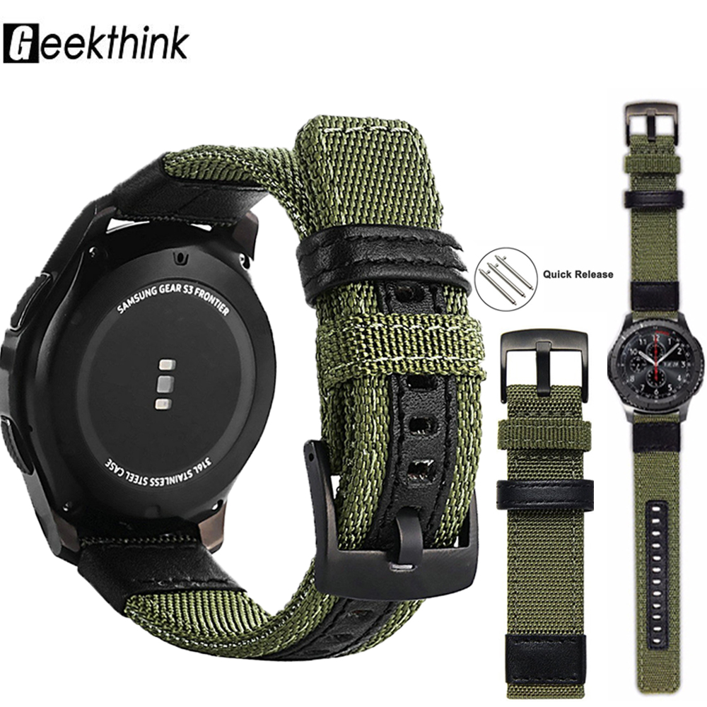 Ремешок для Samsung Galaxy 46 мм ремешок нейлон 22 мм 20 мм часы Gear S3 Frontier Классические Тканые нейлоновые наручные часы Samsung 20 мм|Ремешки для часов|   | АлиЭкспресс