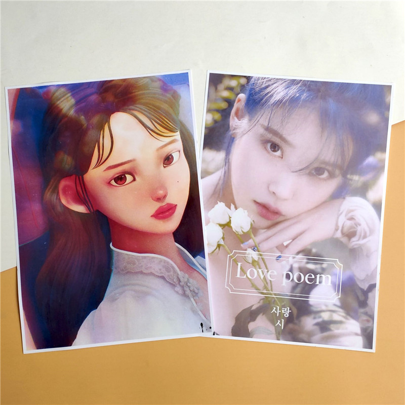 KPOP IU SUGA New Album Eight Poster Card Stickers Wall Banner Fans Collection Wj47
