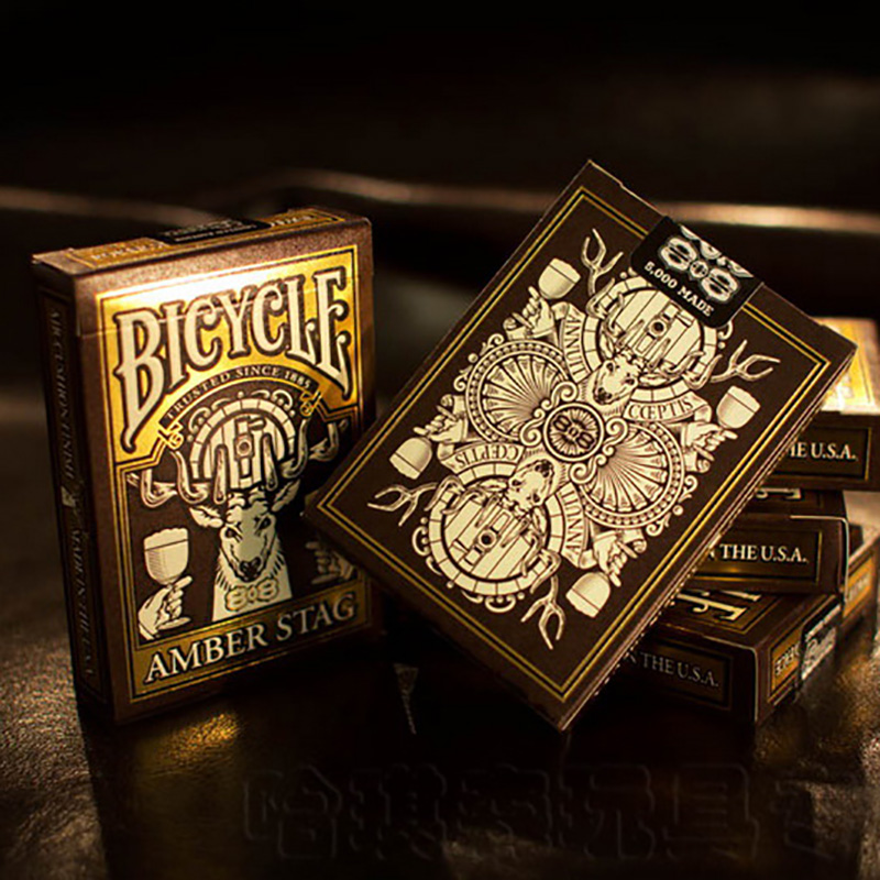 bicycle-amber-stag-club-808-deck-bicycle-playing-cards-font-b-poker-b-font-size-uspcc-limited-edition-deck-new-sealed-magic-props-magia-tricks
