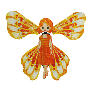 6PC Flying Butterfly Fairy Cards Wrap Magic Flying Toys Clockwork Rubber Funny Surprise Prank Joke Mystical Trick Mascot