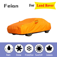 Full Reflective strip Car Covers Snow Ice Dust Wind Sunshade UV Cover Foldable Car Outdoor orange Protector Cover for Land Rover