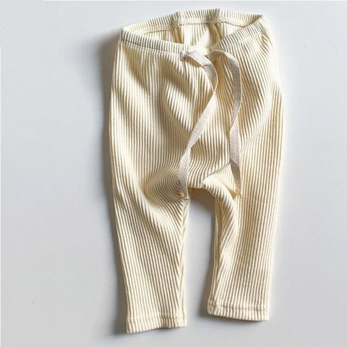 Baby Boys Girls Solid Leggings Toddler Ribbed Pp Pants Little Boy Casual Harems Pants Kids Trousers Bottoming Pant