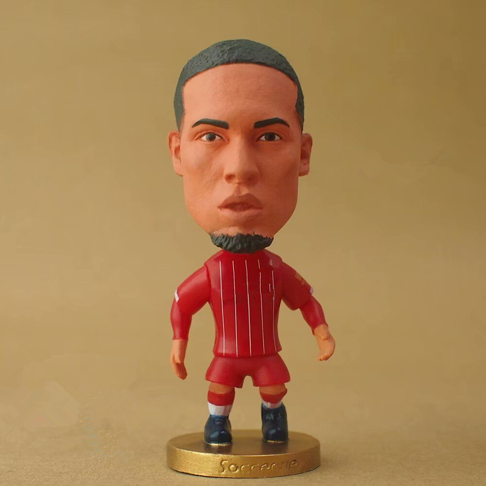 "Soccerwe 2.55"" Height Soccer Cartoon Star Doll LIV# 4# Virgil Van Dijk Figurines For Children Christmas Gift Toy"