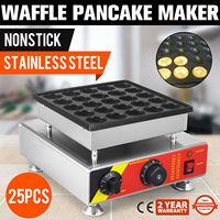 Generic Nonstick Electric 25pcs Mini Round Waffle Maker Baker Machine 220V|Crepe Maker Parts| |  -