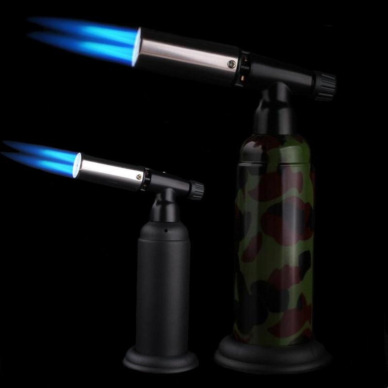 Новинка, кухонный пистолет-распылитель, фонарь-зажигалка с турбо-струей, ветрозащитная зажигалка с двойным пламенем для кемпинга, большая о...