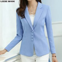 Женский короткий Блейзер на пуговицах повседневный деловой пиджак