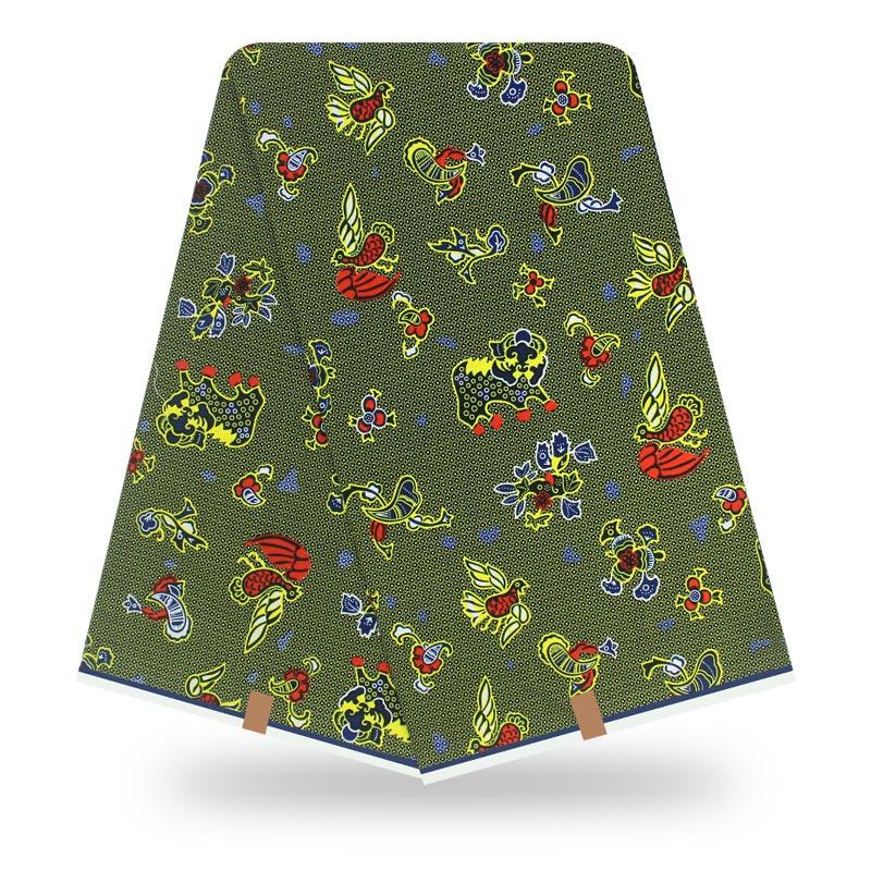 2020 New Arrival Fashion Design Green 100% Cotton African Wrapa Fabric Nigeria Real Dutch Wax Fabric Snijmal Tekst Nederlands