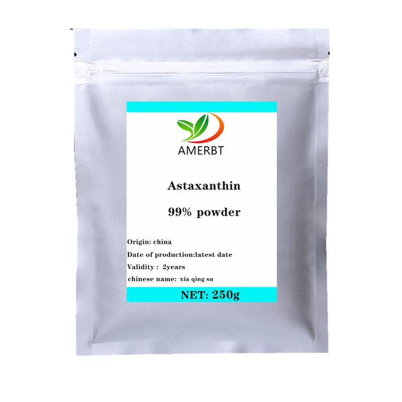 2020 SOST  Haematococcus Pluvialis 99% Astaxanthin Powder High Quality Without Additives, Anti-wrinkle Delaying Senescence