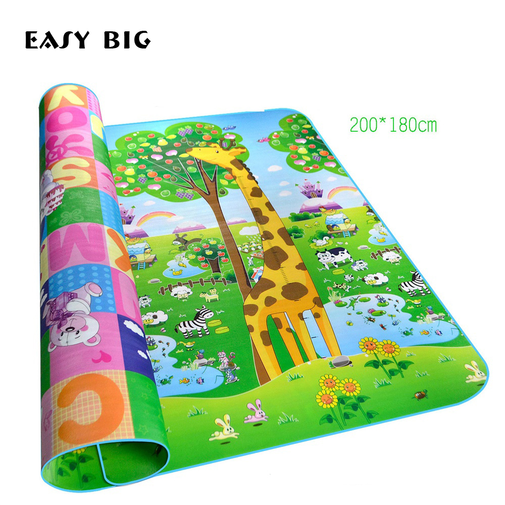 Baby Foam Play Mat Double Surface Crawling Puzzle Mat Baby Carpet Rug Early Education Baby Activity Gym Mat For Kids TH0063