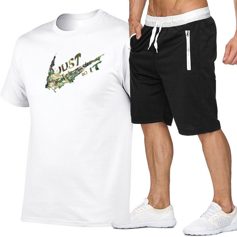 Hot Selling Popular Brand Summer New Style Occident Fashion Shorts T-shirt Suit Men's Sports Clothing Men's Leisure Sports Suit