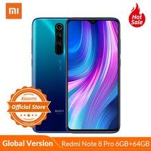 Global Version Xiaomi Redmi Note 8 Pro 6GB 64GB Mobile Phone 64MP Quad Camera MTK Helio G90T Octa Core Smartphone 4500mAh NFC