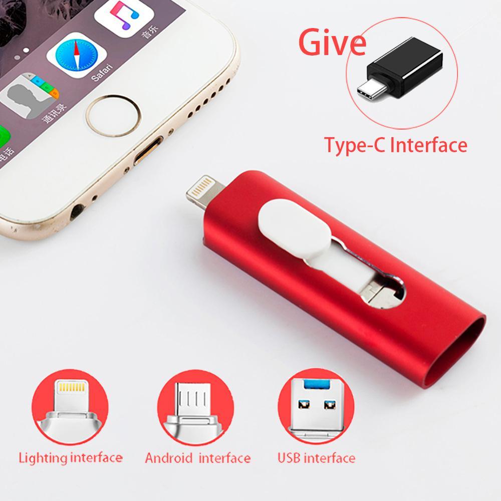 ipad iphone OTG USB flash drive Usb 3.0 pen drive for iPhone iPAD Android Lightning SmartPhone usb stick 8GB 16GB 32GB 64GB 128GB Pendrive (1)