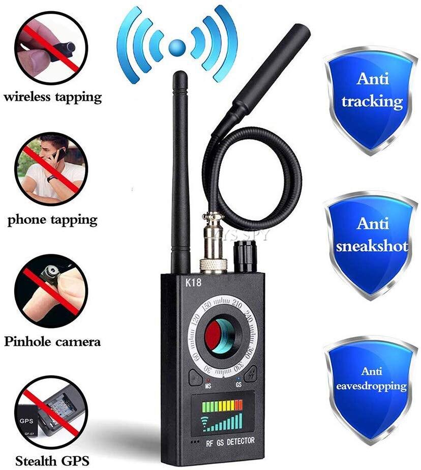 Детектор скрытой камеры с радиочастотным сигналом, анти-шпионский Candid, камера с отверстиями, магнитный GPS-локатор, беспроводной аудио, фотод...