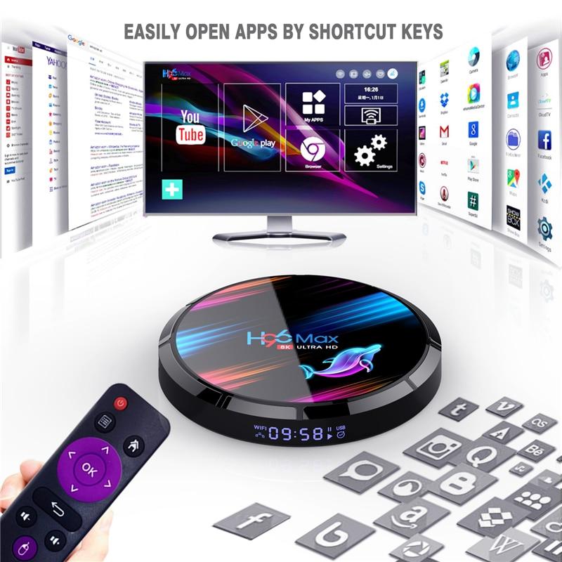 HAAYOT H96 Max X3 4GB 64GB 128GB 8K Amlogic S905X3 Smart TV BOX Android 9.0 Dual Wifi 1080P 4K Youtube Set Top Box 4GB RAM 64GB