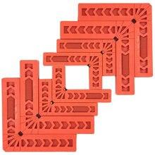 8 pces que posicionam quadrados para trabalhar madeira, ângulo direito de 90 graus grampos carpenter canto que aperta a ferramenta quadrada