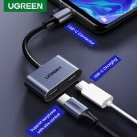 Ugreen 2 in 1 Typ USB C zu Dual USB C Kopfhörer Adapter Für Huawei P30 Pro iPad Pro 2018 google Pixel 2XL Mi8 QC PD 3,0 Kabel
