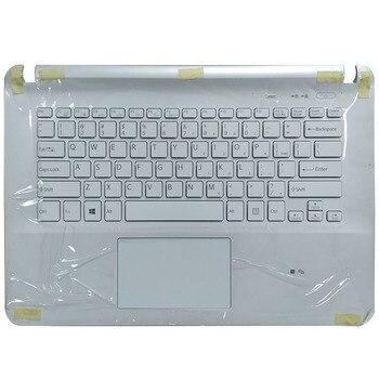 Nuevo teclado para portátil de EE. UU. Para Sony Vaio SVF141 SVF142 SVF143 SVF1421 SVF14E, reposamanos blanco, cubierta superior con panel táctil