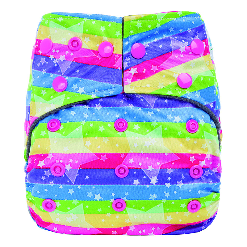 Reusable Bamboo Cloth Diaper Double Gusset Bamboo Baby Diaper Nappies Bamboo Cotton Fabric For Cloth Diaper CP3