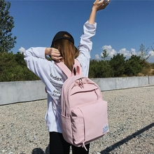 цена на Fashion Nylon Women Backpack School Bags For Teenagers Girls preppy style student Backpack Female Rucksack Mochilas Feminina