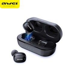 AWEI T13 T10C TWSหูฟังไร้สายบลูทูธหูฟังกีฬาชุดหูฟังแฮนด์ฟรีหูฟังไมโครโฟนHDสเตอริโอสำหรับXiaomi