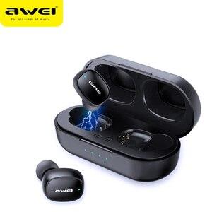 Image 1 - AWEI T13 T10C TWSหูฟังไร้สายบลูทูธหูฟังกีฬาชุดหูฟังแฮนด์ฟรีหูฟังไมโครโฟนHDสเตอริโอสำหรับXiaomi