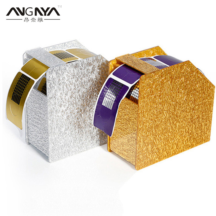 ANGNYA 1Pcs Nail Art Paper Holder Remover Paper Wipe Holder Container Storage Case Make Up Nail DIY Manicure Styling Tool Stand