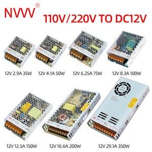Image 3 - NVVV تحويل التيار الكهربائي 35 واط 50 واط 75 واط 100 واط 150 واط 350 واط LRS سلسلة رقيقة جدا LED سائق التيار المتناوب 110 فولت 220 فولت إلى 12 فولت 24 فولت تيار مستمر امدادات الطاقة