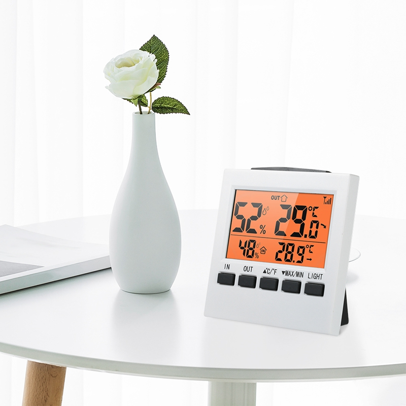 Hot Sale Indoor/Outdoor Wireless Weather Station Lcd Digital Thermometer Hygrometer Temperature Humidity Meter Thermoregulator