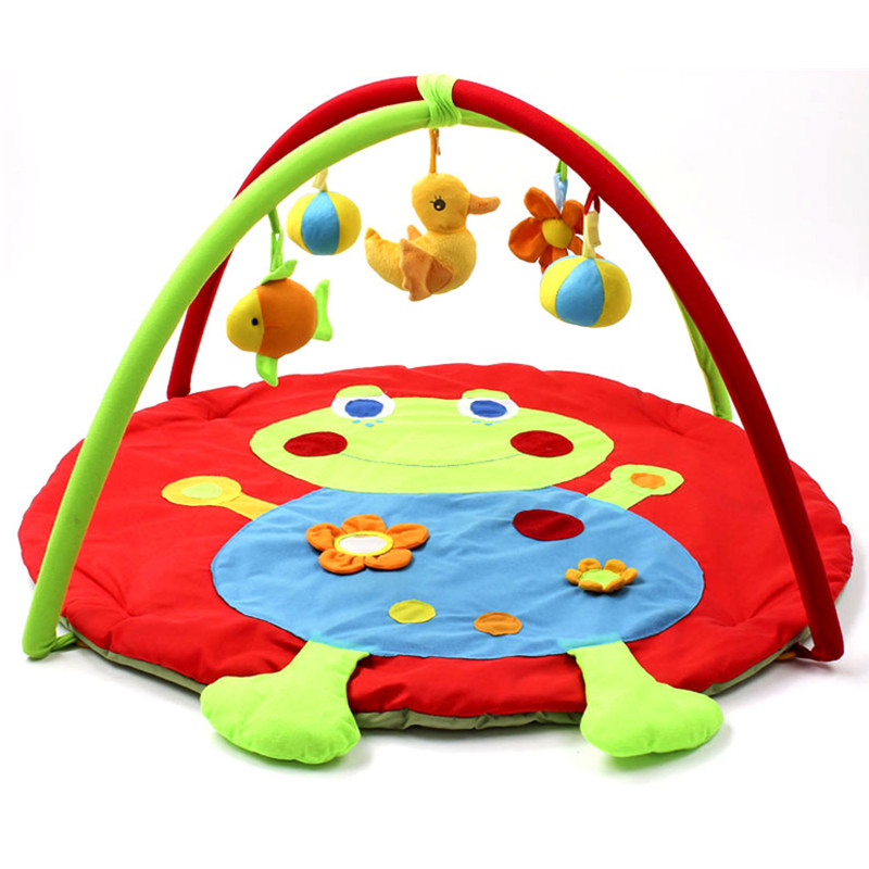 90*90*50CM Big Frog Soft Baby Play Mat 5 Educational Toys Kids Baby Activity Gym Crawling Mat Newborn Playmat
