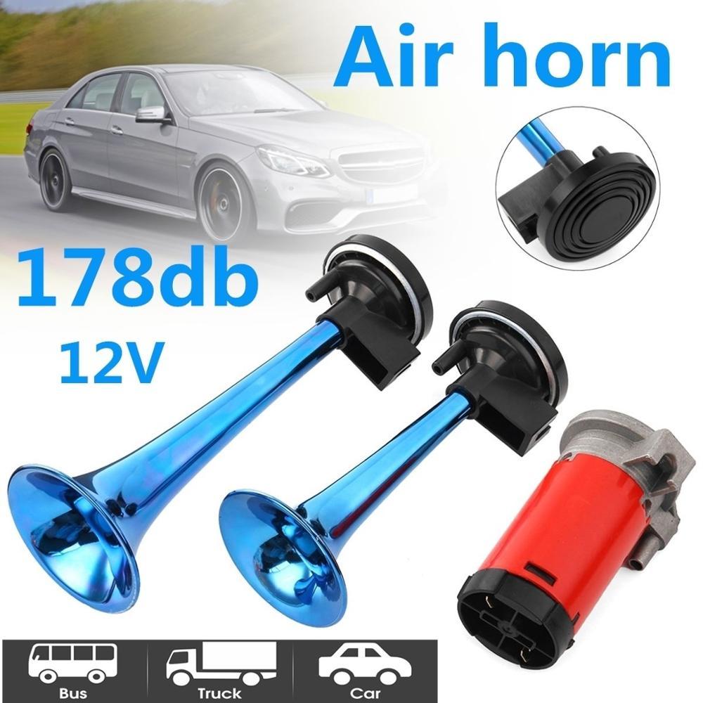 12V 178dB Dual Super Loud Air Horn Trumpet Compressor For Car Truck Boat Train Corneta de Aire Compresor de Trompeta