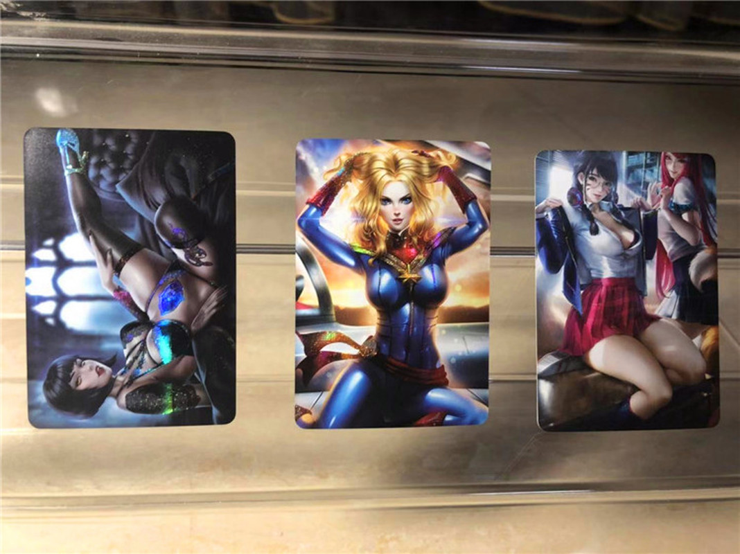 40pcs/set Sexy Beauty Sailor Moon Catwoman Captain MarvelHobbies Hobby Collectibles Game Collection Anime Cards Free Shipping 2