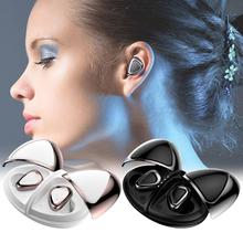 Portable Aluminum Alloy 5.0 Mini Wireless Earbuds Sport Handsfree Bluetooth Earphones Music Stereo Waterproof With Charging Box