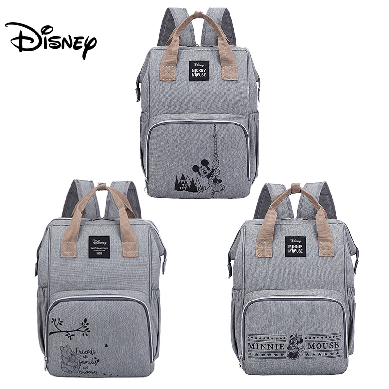 Disney Minnie Mickey Diaper Bag Backpack For Mummy Maternity Bag For Stroller Bag Large Capacity Baby Nappy Bag Organizer New
