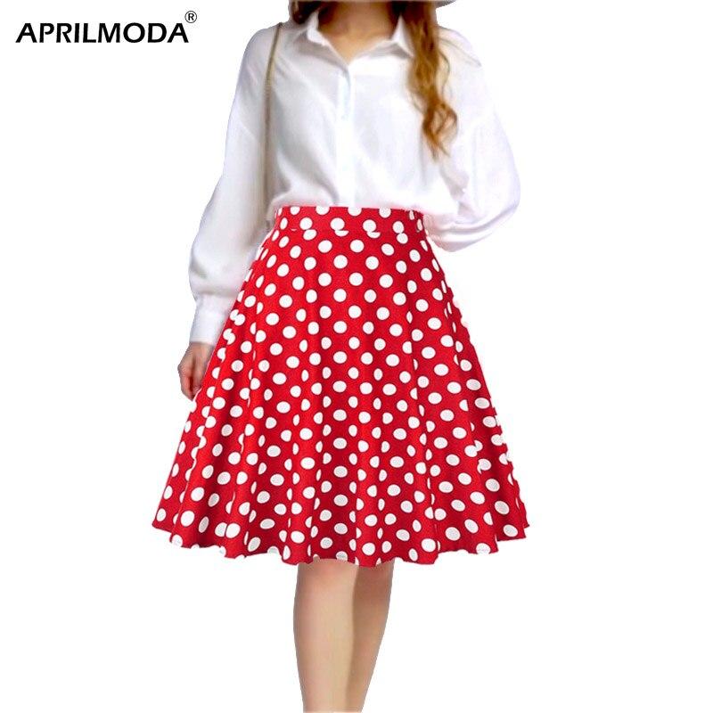 High Waist Runway Pleated Skirt Black Knee Length Cotton Skirts Retro Vintage 50s Rockabilly Swing Skirts Plus Size Skater Skirt