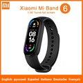 Оригинальный Смарт-браслет Xiaomi Mi Band 6, фитнес-трекер с оксиметром в крови, пульсометр, Bluetooth Смарт-браслет, водонепроницаемый смарт-браслет