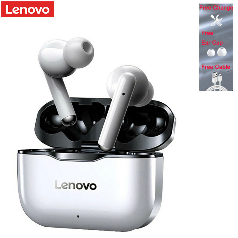 100% Original Lenovo LP1 TWS Wireless Earphone Bluetooth 5.0 Dual Stereo Noise Reduction Bass Touch Control Long Standby 300mAH