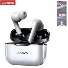 100% original lenovo lp1 tws fone de ouvido sem fio bluetooth 5.0 dupla estéreo redução ruído baixo controle toque longa espera 300mah
