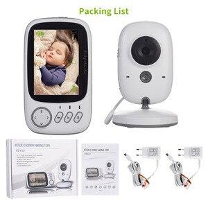 Image 5 - Monitor inalámbrico para bebés, pantalla LCD de 3,2 pulgadas, visión nocturna IR, 2 vías de conversación, 8 canciones de cuna, monitor de temperatura, vídeo, radio, cámara para bebés