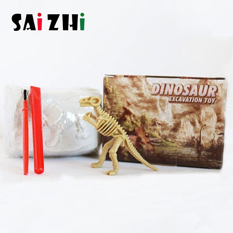 Saizhi bricolage fouilles archéologiques de fossiles de dinosaures cadeau enfant petite technologie de production éducative SZ3402
