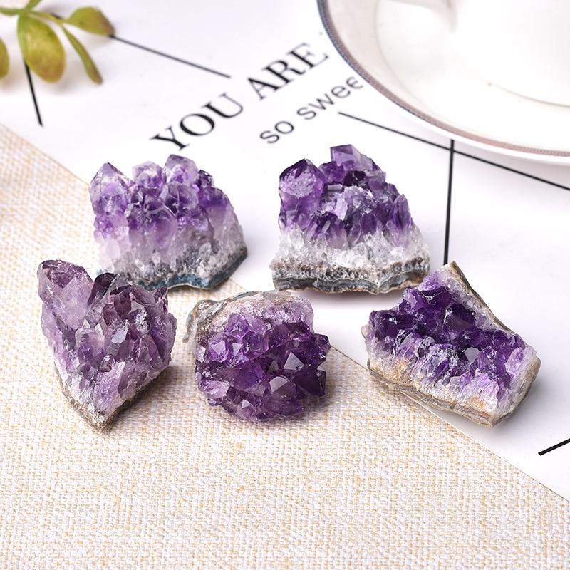 Cristal d'améthyste naturel, Quartz brut, pierre de guérison, minéral violet, pierre Feng Shui, décoration de la maison, 1 pièce