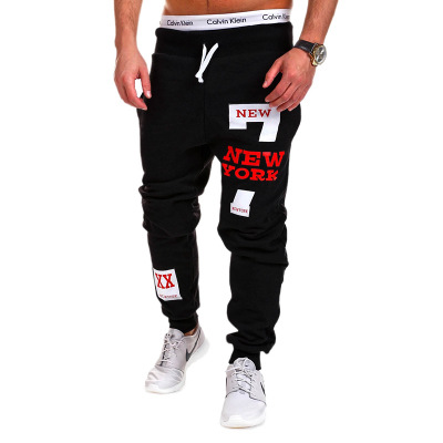 Spring And Autumn New Style Contrast Color Simple Casual Athletic Pants With Numbers Printed Letter Athletic Pants Ouma