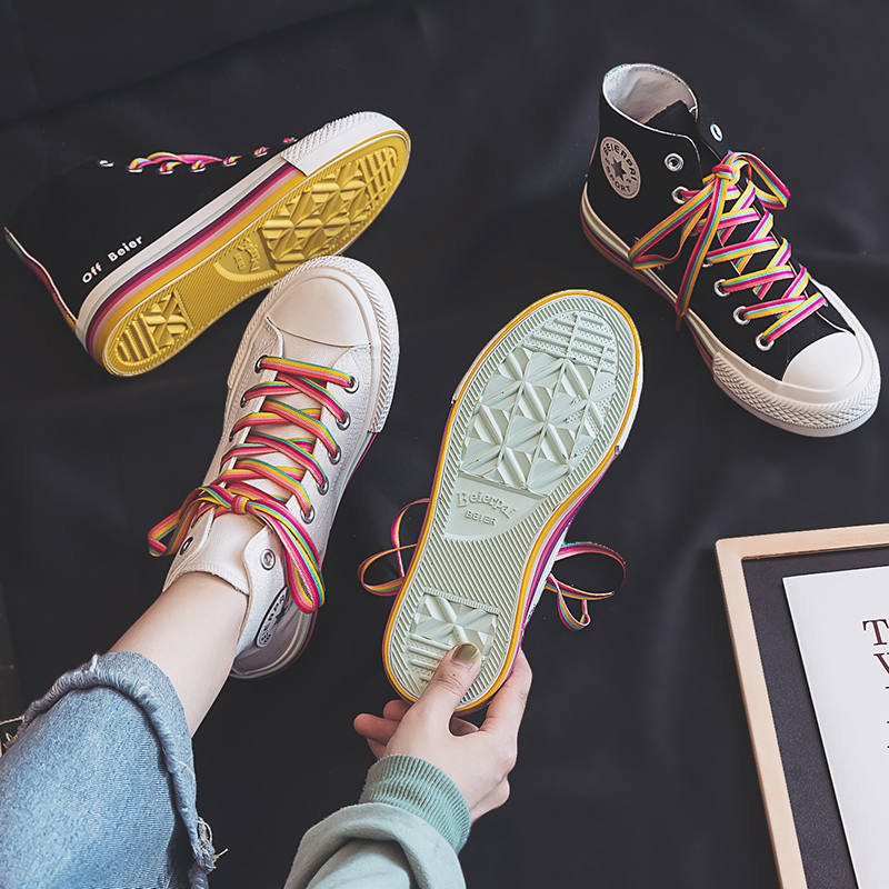 Girls Rainbow Sneakers 4