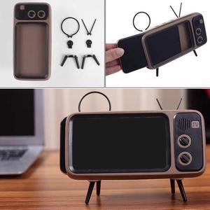 Image 5 - Retro Radio Speaker, Portable FM Speaker with BT AUX FM Function, Stereo Sound, TF Card Slot, Super Bass Speaker Phone Holder