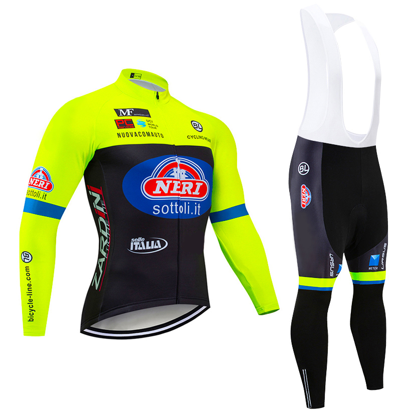 Winter 2020 TEAM sottoli italia long sleeve cycling jersey 20D pads <font><b>bike</b></font> pants suit Ropa Ciclismo mens Thermal fleece pro bicycling <font><b>wear</b></font> Maillot Pants clothing image