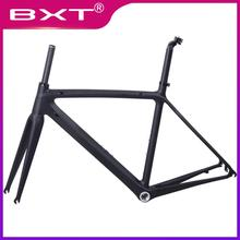 цены carbon road bike frame cycling bicycle frameset Ultralight 980g Di2/mechanical racing T800 carbon road frame Free Shipping china
