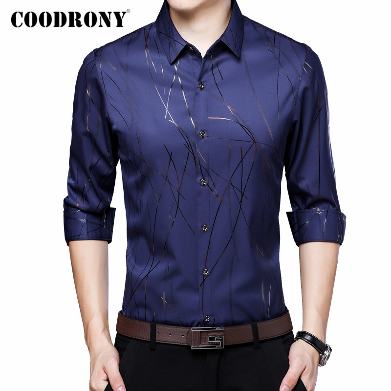 COODRONY Brand Men Shirt Long Sleeve Cotton Shirt Men Autumn Business Casual Shirts Streetwear Plus Size Camisa Masculina 96070
