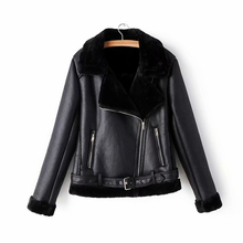 Jacket Winter Faux-Lamb Female Elegant Black Women Lady Streetwear Fashion Wool ZXQJ