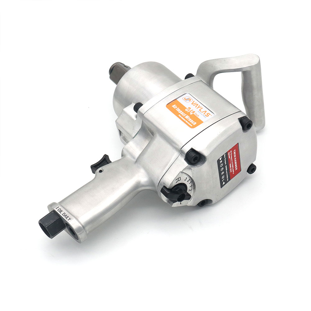 Huge Torque 2000N.m 3/4 Heavy Duty Pneumatic Impact Wrench Spanner Air-powered Gun Twin Hammer 8