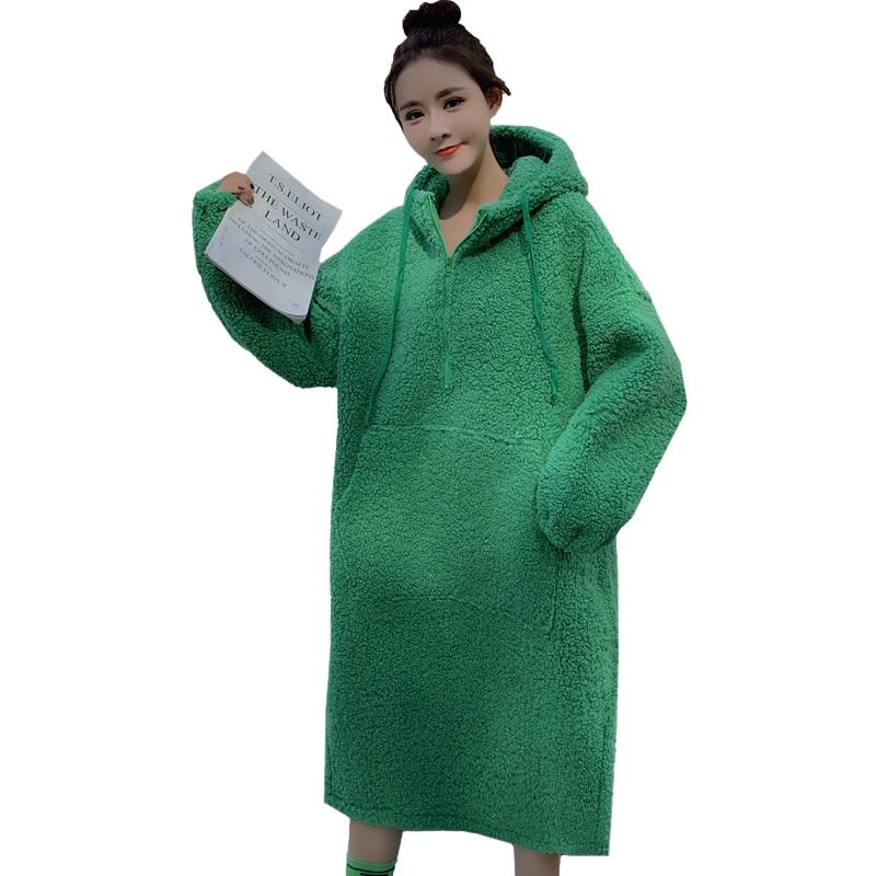 Nouveau chaud tricoté maternité chandails robe automne hiver mode grande taille pulls en vrac pour les femmes enceintes grossesse sweats à capuche